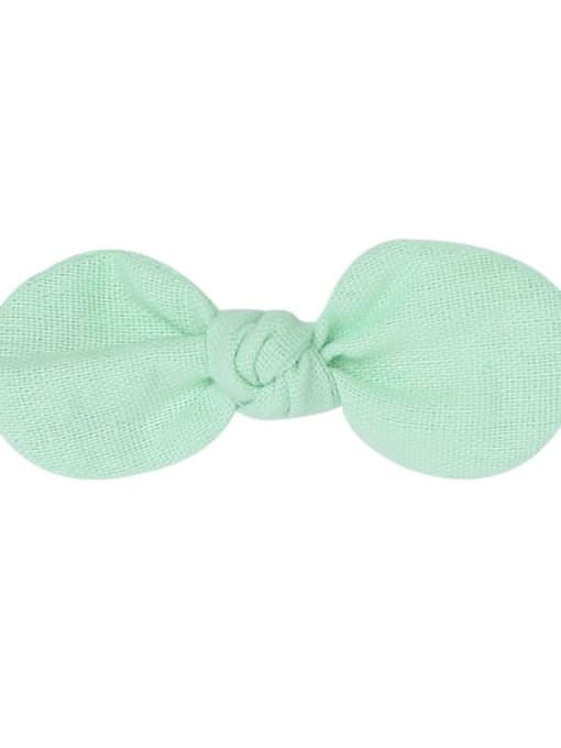 5 light green hairpin Alloy Fabric Minimalist Bowknot  Multi Color Hair Barrette