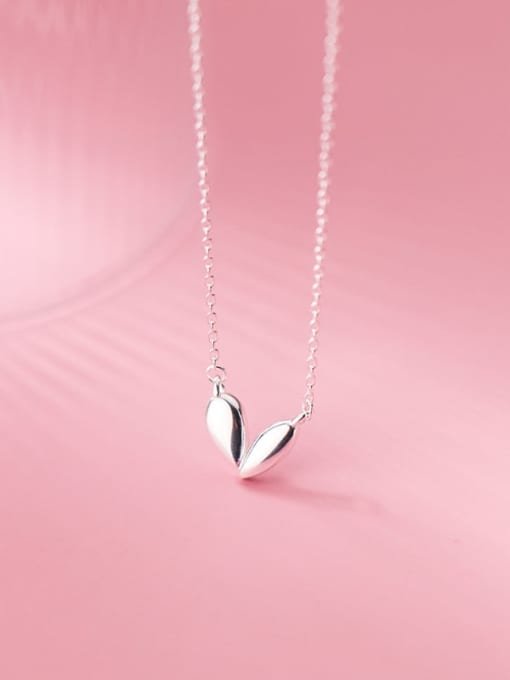 Rosh 925 Sterling Silver Heart Minimalist Necklace 2