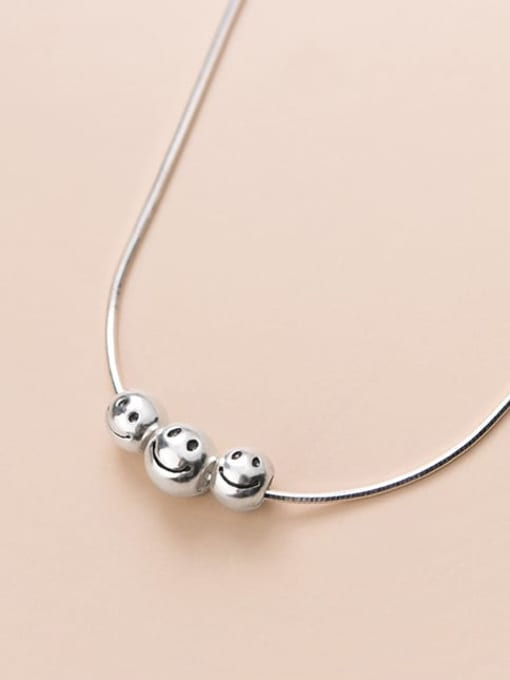 Rosh 925 Sterling Silver Face Minimalist Necklace