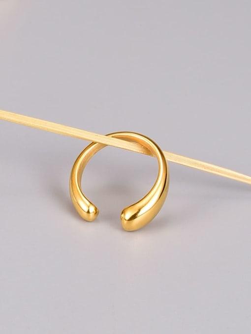 A TEEM Titanium Steel Water Drop Minimalist Band Ring 2