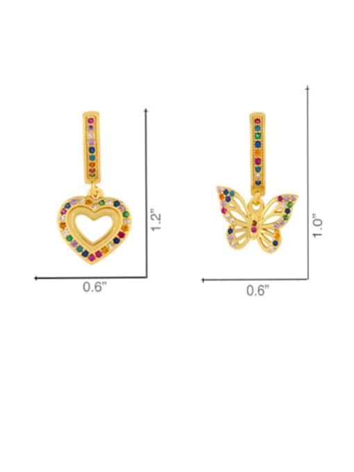 CC Brass Cubic Zirconia Heart Dainty Huggie Earring 4