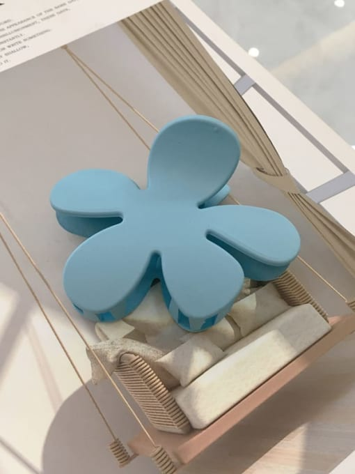 blue Cellulose Acetate Minimalist multicolor  Flower Jaw Hair Claw