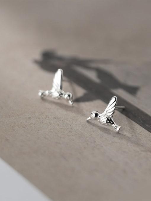 Rosh 925 Sterling Silver Bird Cute Stud Earring 3