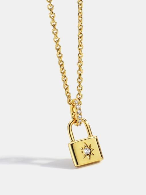 CHARME Brass Rhinestone Locket Minimalist Necklace