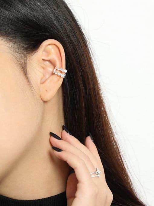 DAKA 925 Sterling Silver Irregular Vintage Single Earring 3