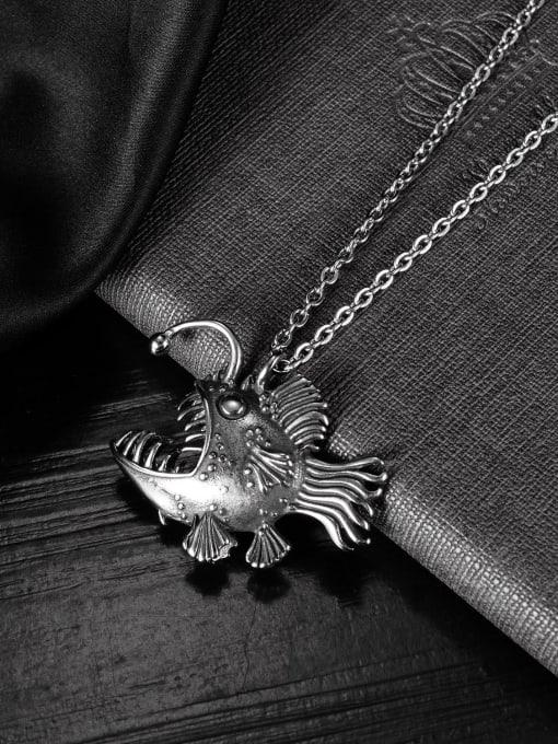 Open Sky Titanium Steel Fish Vintage Necklace 2