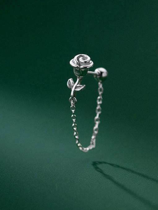 Rosh 925 Sterling Silver Flower Cute Threader Earring 2