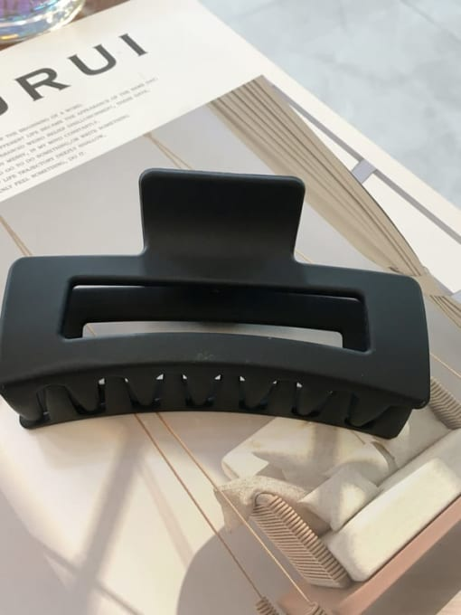 Frosted black Cellulose Acetate Minimalist Geometric Jaw Hair Claw