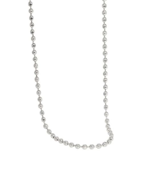 DAKA 925 Sterling Silver Geometric Vintage Beaded Necklace 4