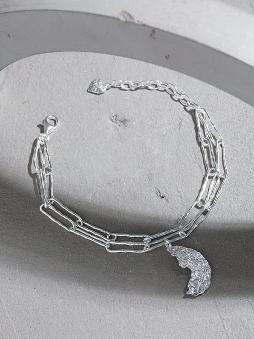 DAKA 925 Sterling Silver Geometric Vintage Strand Bracelet 2