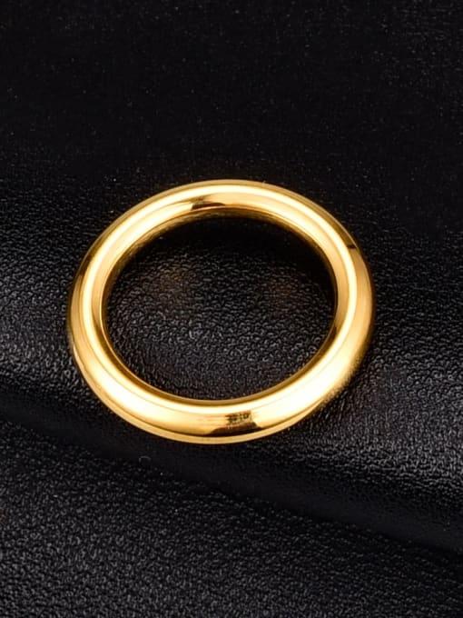 A TEEM Titanium Steel Smooth Round Minimalist Band Ring 0