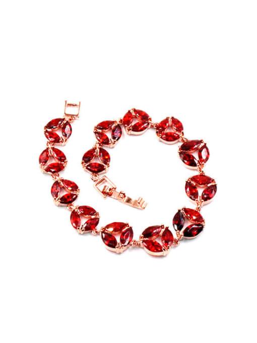 DUDU Brass Cubic Zirconia Geometric Dainty Bracelet 1