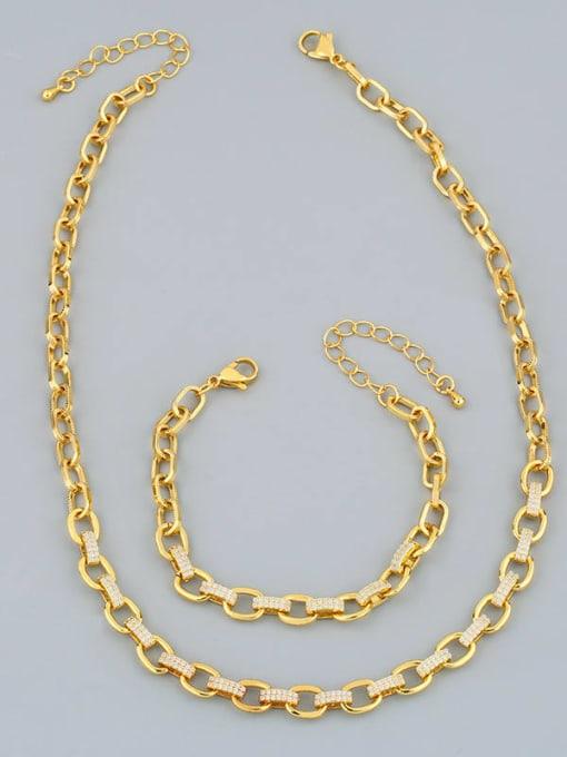 CC Brass Hollow Geometric Minimalist Necklace 0