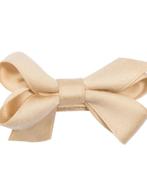 3 Khaki Alloy Fabric Cute Bowknot  Multi Color Hair Barrette