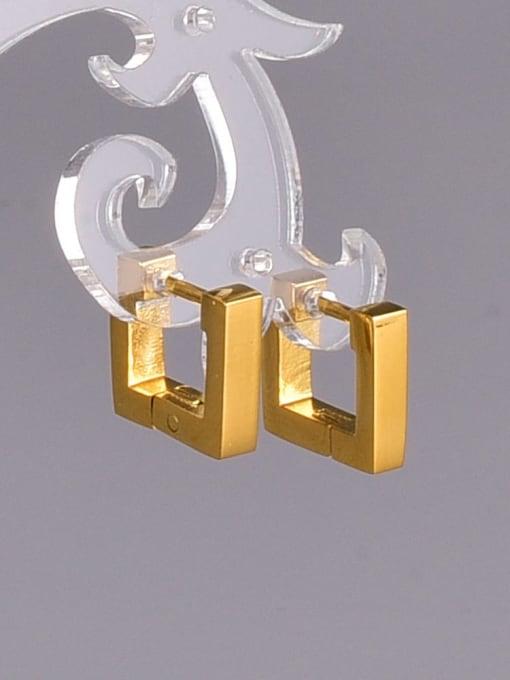 A TEEM Titanium Steel Square Vintage Huggie Earring 2