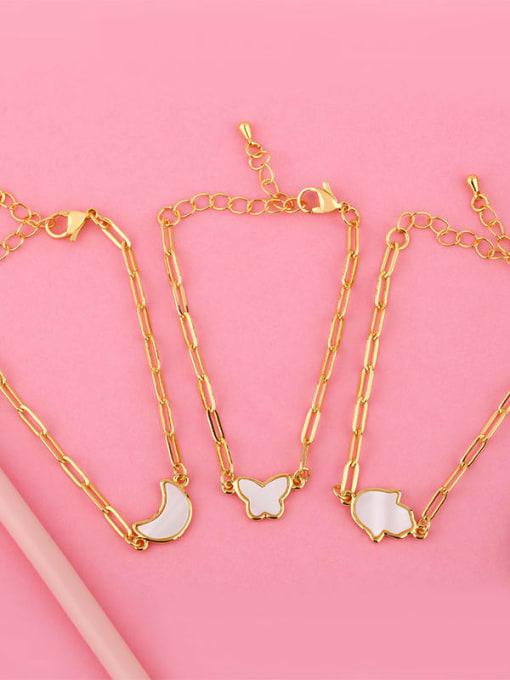CC Brass Shell Butterfly Minimalist Adjustable Bracelet 4