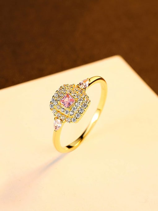 7# 925 Sterling Silver Cubic Zirconia Geometric Minimalist Band Ring