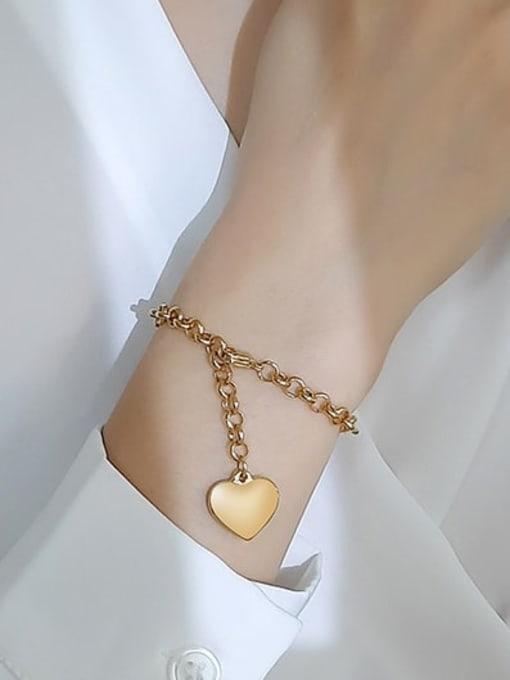 CONG Titanium Steel Heart Vintage Link Bracelet 1