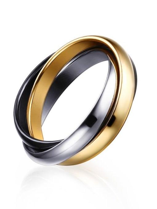 Style 2 6 -10# Titanium Steel Geometric Minimalist Stackable Ring