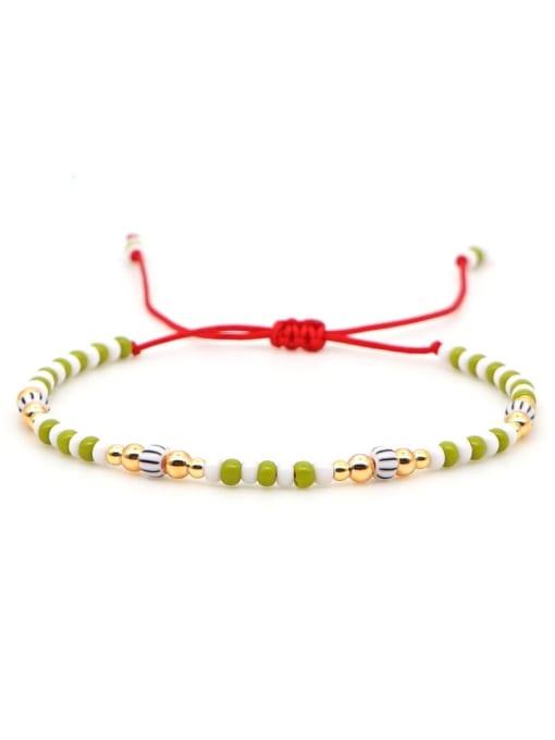 QT B200031F Stainless steel Miyuki beads Multi Color Geometric Bohemia Adjustable Bracelet