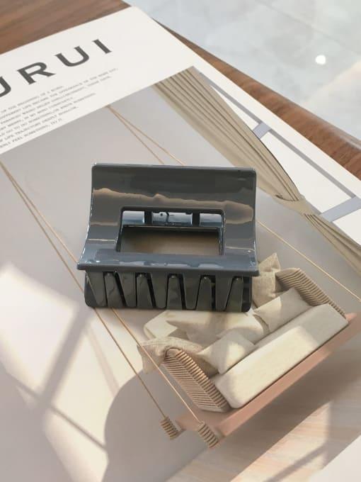 dark grey Cellulose Acetate Minimalist Medium square  Geometric Jaw Hair Claw