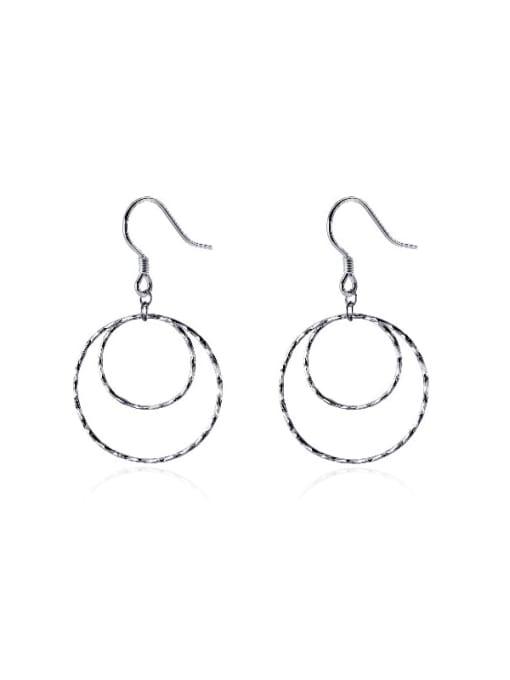 Rosh 925 Sterling Silver Geometric Minimalist Hook Earring 0