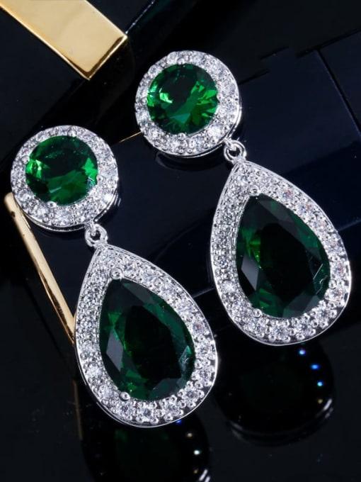 L.WIN Brass Cubic Zirconia Water Drop Luxury Drop Earring 1