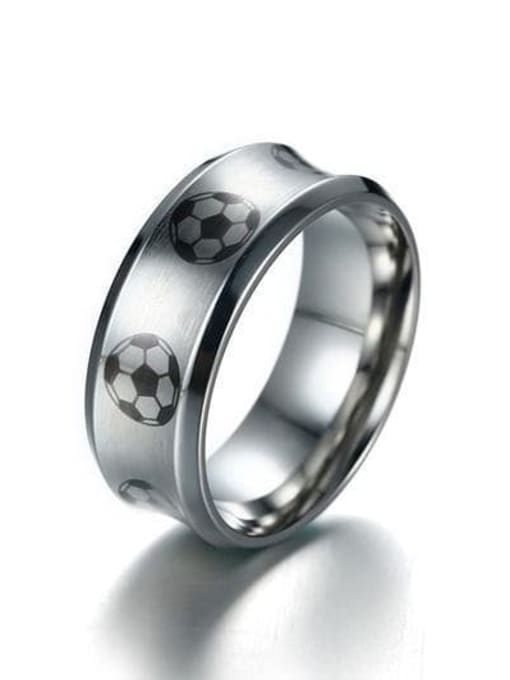 CONG Stainless steel Enamel Ball Minimalist Band Ring 2