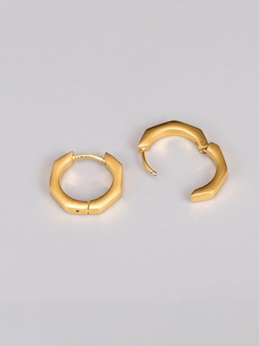 A TEEM Titanium Steel Geometric Minimalist Huggie Earring 1