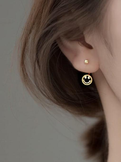 Rosh 925 Sterling Silver Smiley Cute Stud Earring 3