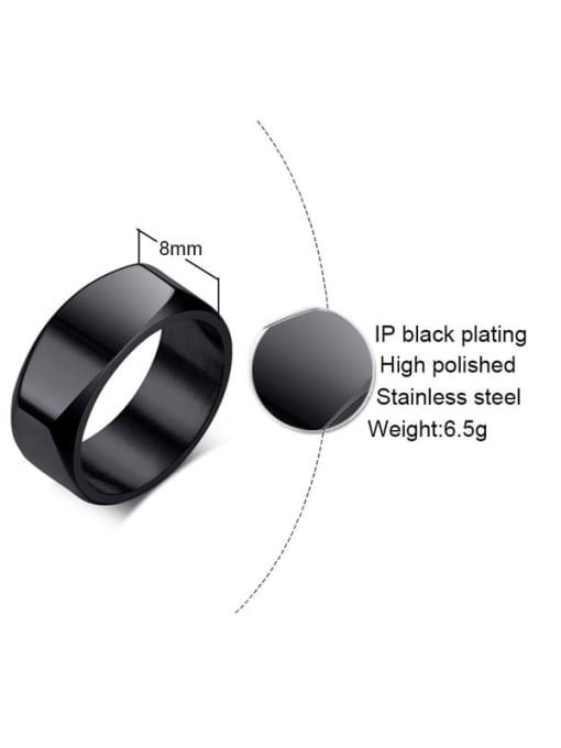 CONG Titanium Steel Smooth Geometric Minimalist Band Ring 2