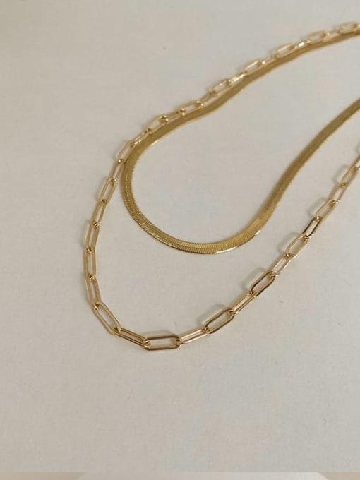 A TEEM Titanium Steel Irregular Minimalist Multi Strand Necklace 2