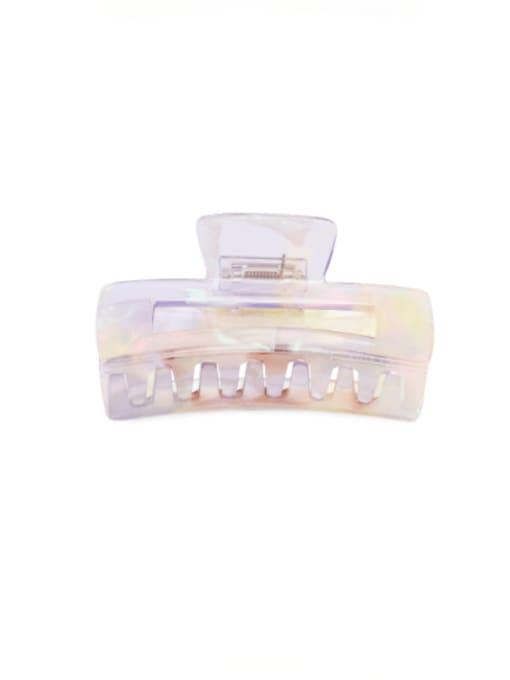 HUIYI Cellulose Acetate Minimalist Geometric Zinc Alloy Multi Color Jaw Hair Claw 1