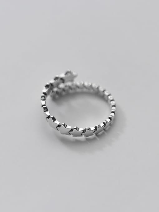 Rosh 925 Sterling Silver Star Minimalist Band Ring 3
