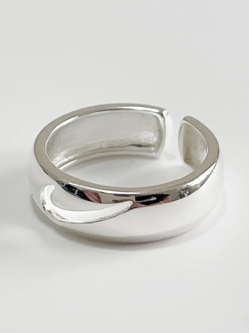 Boomer Cat 925 Sterling Silver Geometric Vintage Stackable Ring 1