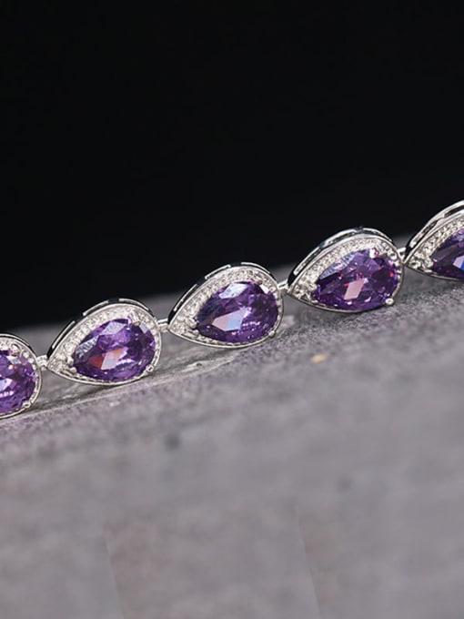 DUDU Brass Cubic Zirconia Water Drop Luxury Bracelet 1