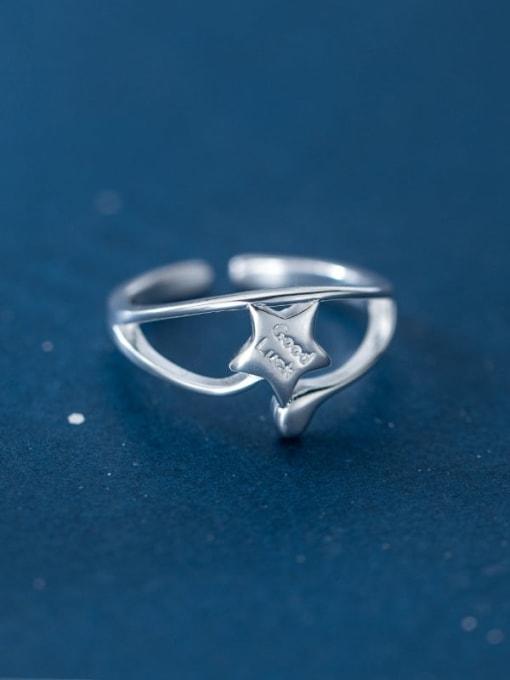 Rosh 925 Sterling Silver Star Minimalist Band Ring 3