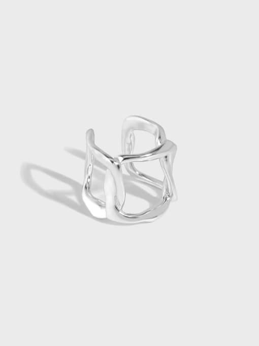 DAKA 925 Sterling Silver Hollow Geometric Minimalist Single Earring 0