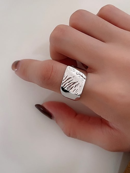 Boomer Cat 925 Sterling Silver Geometric Vintage Band Ring 4