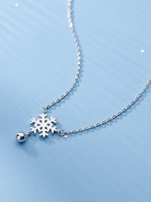 Rosh 925 Sterling Silver Flower Minimalist Necklace 2