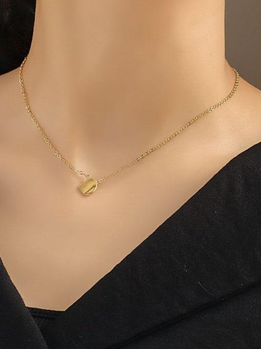 CHARME Brass Smooth Irregular Minimalist Necklace 1
