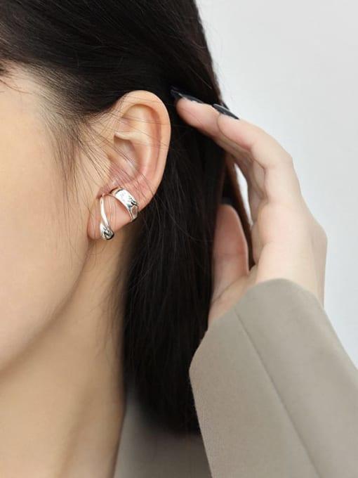 DAKA 925 Sterling Silver Irregular Minimalist Single Earring 2