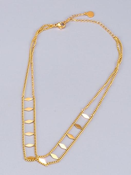 A TEEM Titanium Steel Irregular Vintage Multi Strand Necklace