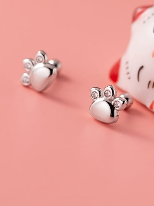 Rosh 925 Sterling Silver Crown Minimalist Stud Earring
