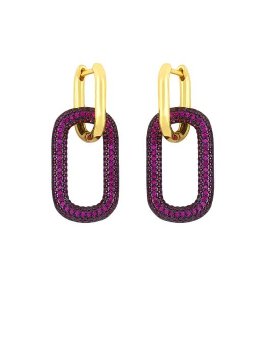 CC Brass Rhinestone Geometric Vintage Drop Earring 2