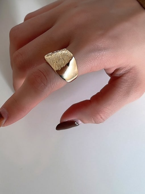 Boomer Cat 925 Sterling Silver Geometric Vintage Band Ring 3