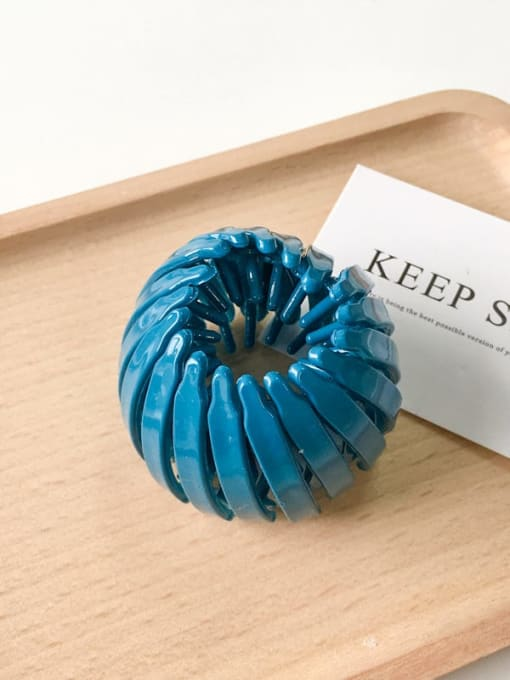 blue Cellulose Acetate Cute Geometric Jaw Hair Claw