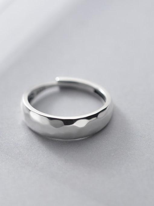 Rosh 925 Sterling Silver Smooth Irregular Minimalist Band Ring 2