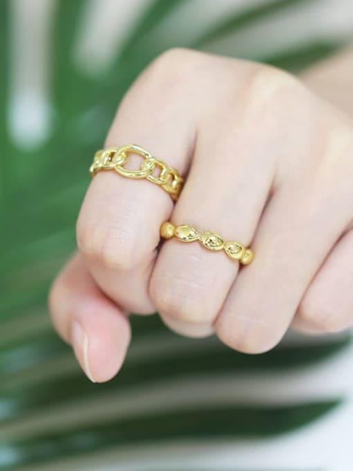 CC Brass Bead Geometric Minimalist Band Ring 1