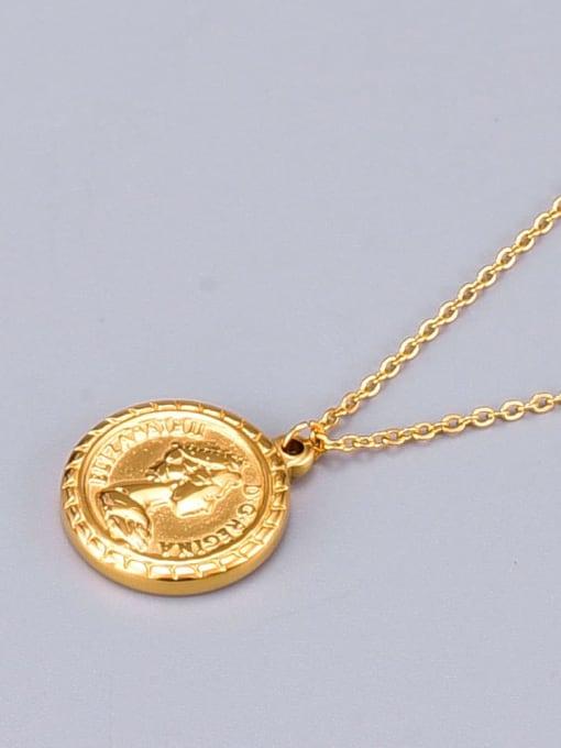 A TEEM Titanium Round Vintage pendant Necklace 2